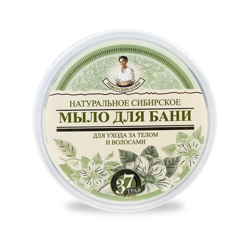 Schwarze Seife für Körper und Haare - Rezepte der Oma Agafja, 500 ml, für Sauna und Bad